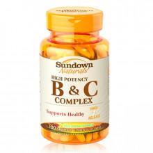 [日落恩賜 Sundown] 高單位緩釋型B群+C-B12強化配方(100錠/瓶)