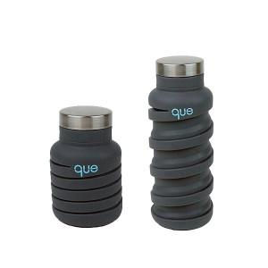 Que Bottle 環保 矽膠/食品不鏽鋼 伸縮水瓶 多種顏色 (355毫升 / 12盎司)