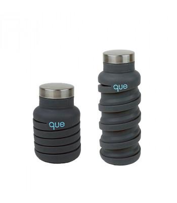 [Que Bottle] 環保 矽膠/食品不鏽鋼 伸縮水瓶 多種顏色 (355毫升 / 12盎司)