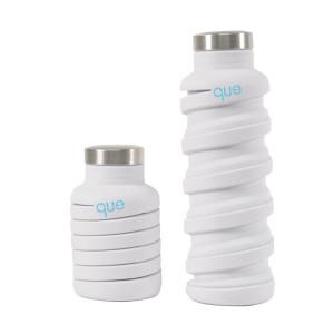 Que Bottle 環保 矽膠/食品不鏽鋼 伸縮水瓶 多種顏色 (600毫升 / 20盎司)