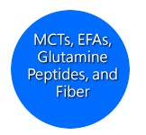 MCTs, EFAs, Glutamine Peptides, and Fiber